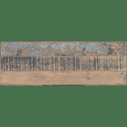 Carrelage imitation parquet style usine usé vintage bleu KUNNY 17.50x50 cm - 1.31m²