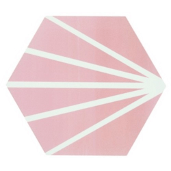 Tomette rose motif dandelion MERAKI ROSA 19.8x22.8 cm - 0.84m²
