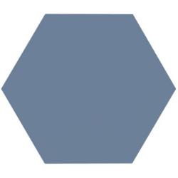 Tomette unie bleue série dandelion MERAKI AZUL BASE 19.8x22.8 cm - 0.84m²