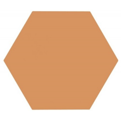 Tomette unie orange série dandelion MERAKI MOSTAZA BASE 19.8x22.8 cm - 0.84m²