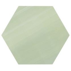 Tomette unie verte série dandelion MERAKI VERDE BASE 19.8x22.8 cm - 0.84m²