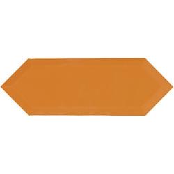 Faience navette biseautée orange brillant 10x30 PICKET BEVELED HONEY - 1m²