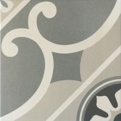 Carrelage imitation ciment rosace 20x20 cm CAPRICE CHATELET 20930- 1m²