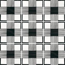 Carrelage imitation ciment 20x20 cm CAPRICE DECO CLOTH B&W 22124- 1m²