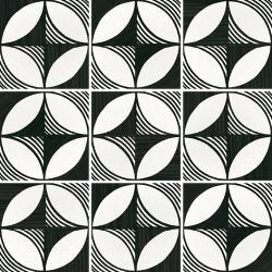Carrelage imitation ciment 20x20 cm CAPRICE DECO COMPASS B&W 22123- 1m²