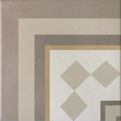 Carrelage imitation ciment beige taupe 20x20 cm CAPRICE LOIRE ANGLE 20937 - unité Equipe