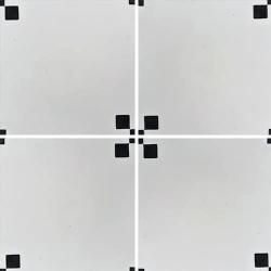 Carreau de ciment géométrique blanc et noir TIPIX 20x20 cm ref:160-1 - 0.48m²