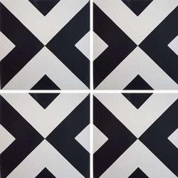 Carreau de ciment géométrique blanc et noir 20x20 cm ref RENEV - 0.48m²