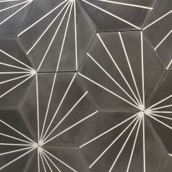 Carreau ciment en tomette dandelion 20x17cm - Ref.8500-11 - 0.307m²