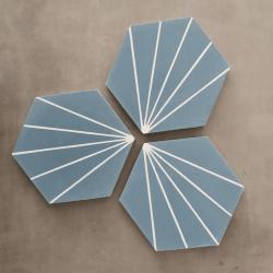 Carreau ciment en tomette dandelion 20x17cm - Ref.8500-12 - 0.307m²