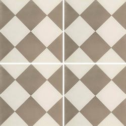 Carreau de ciment damier gris et blanc 20x20 cm ref310-1 - 0.48m²