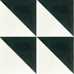 Carreau de ciment triangle noir et blanc 20x20 cm ref350-1 - 0.48m²