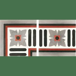 Carreau de ciment frise gris rouge blanc 20x20 cm ref4970-2 - Unité