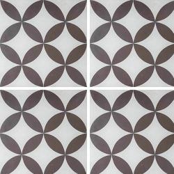 Carreau de ciment véritable Quatre-feuilles grise 20x20 cm ref7180-1 - 0.48m²