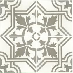 Carreau de ciment décoré gris 20x20 cm ref7420-1 - 0.48m²