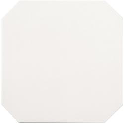 Carrelage 20x20 blanc octogone avec cabochons CERAME BRILLANT - 1.5m² ASDC