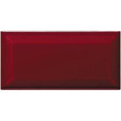 Carreau métro grès cérame rouge grenat GRANATO 7,5x15 cm - 1 m²