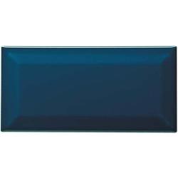 Carreau métro grès cérame bleu nuit PETROLIO 7,5x15 cm - 1 m²
