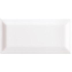 Carreau métro grès cérame blanc TALCO 7,5x15 cm - 1 m²