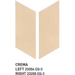 Chevron uni sol ou mur 9x20.5 cm CRÈME - réf. 23204-23205- 1m² Equipe