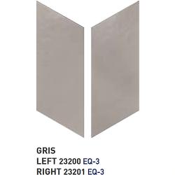Chevron uni sol ou mur 9x20.5 cm GRIS - réf. 23200-23201 - 1m² Equipe