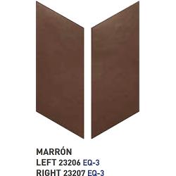 Chevron uni sol ou mur 9x20.5 cm MARRON -réf. 23206-23207 - 1m² Equipe