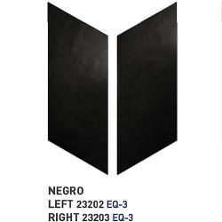 Chevron uni sol ou mur 9x20.5 cm NOIR - réf. 23202-23203- 1m² Equipe