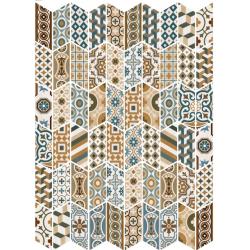 Chevron patchwork Color motifs anciens 9x20.5 cm - 1m²