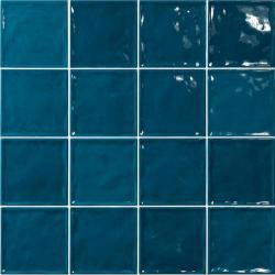 Carrelage effet zellige bleu canard 15x15 CHIC BONDI - 1m² El Barco