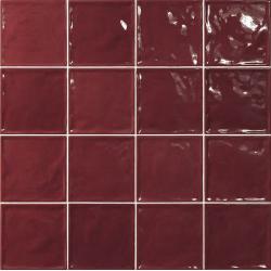 Carrelage effet zellige rouge 15x15 CHIC CARMIN - 1m² El Barco