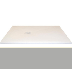 Receveur extra-plat CLASSIC PIZARRA CEMENTO - bonde latérale