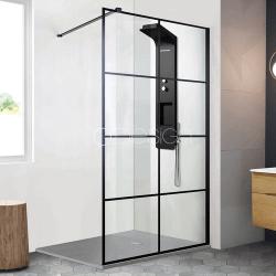 Paroi de douche style atelier fixe 1 panneau - CLUB 90 cm