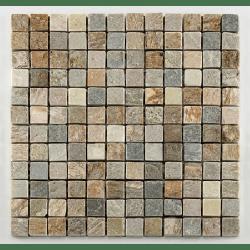 Mosaique quartzite 2.3x2.3 cm - unité Barwolf