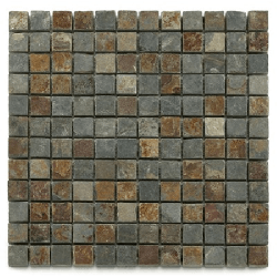 Mosaique ardoise 2.3x2.3 cm - unité Barwolf