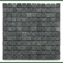 Mosaique ardoise noire 2.3x2.3 cm - unité Barwolf