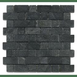 Mosaique ardoise noire 3x3 - 4.8 cm - unité