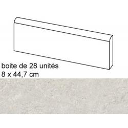 Plinthe intérieur Concrete Pearl 8x44.7 cm - 12.52mL