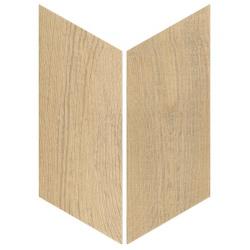 Chevron imitation bois sol ou mur 9x20.5 cm HEXAWOOD NATURAL R10 - réf. 21657-21658 - 1m²