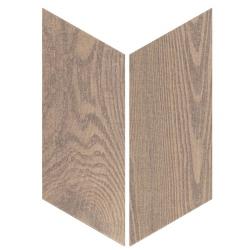 Chevron imitation bois sol ou mur 9x20.5 cm HEXAWOOD OLD R10 - réf. 21660-21659 - 1m²