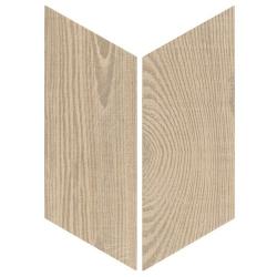 Chevron imitation bois sol ou mur 9x20.5 cm HEXAWOOD TAN R10 - réf : 21656-21655 - 1m²
