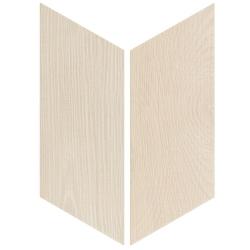 Chevron imitation bois sol ou mur 9x20.5 cm HEXAWOOD WHITE R10 - réf. 21651-21652 - 1m²