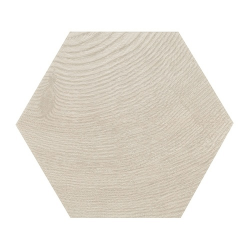 Carrelage aspect bois 17,5x20cm Tomette HEXAWOOD GREY 21627 - 0.71m²