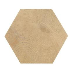 Carrelage aspect bois 17,5x20cm Tomette HEXAWOOD NATURAL 21629 - 0.71m²