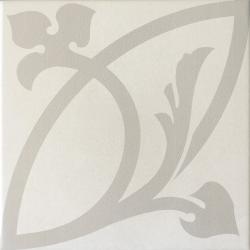 Carrelage imitation ciment rosace CAPRICE LIBERTY WHITE 20934 - 20x20 cm - 1m²