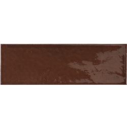 Faience effet zellige marron 6.5x20 VILLAGE WALNUT BROWN 25644 - 0.5 m²