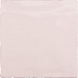 Faience nuancée effet zellige rose 13.2x13.2 RIVIERA ROSE 25853-1 m²