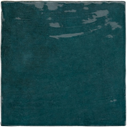 Faience nuancée effet zellige bleu canard 13.2x13.2 RIVIERA QUETZAL 25859- 1 m²