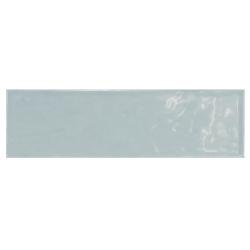 Carrelage uni brillant bleu 6.5x20cm COUNTRY ASH BLUE - 21541 0.5m² Equipe
