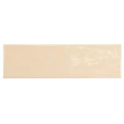 Carrelage uni brillant beige clair 6.5x20cm COUNTRY BEIGE 0.5m² Equipe