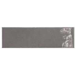 Carrelage uni brillant gris graphite 6.5x20cm COUNTRY GRAPHITE 0.5m²